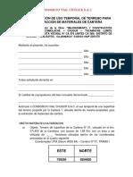Autorizacion Canteras Tramo i y II