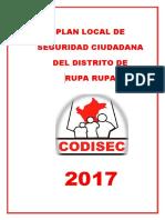 Plan Local de Seguridad Ciudadana del Distrito de Rupa Rupa