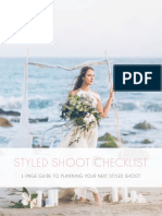 CN Styled Shoot Checklist