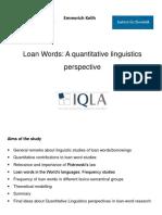 2014 Loanwords Pres Qualico
