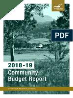 2018-19 Community Budget Report