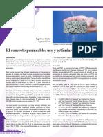 Concreto Permeable-uso y Estandare Utp