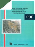 Manual Para El Diseño, Construcción y Mantenimiento de Pistas Mineras