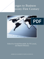Challenges to Business in the Twenty-First Century