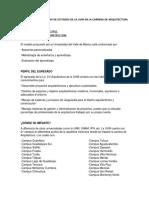 Analisis Del Programa de Estudios de La Uvm en La Carrera de Arquitectura