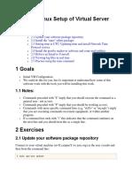 Basic Linux Setup of Virtual Server