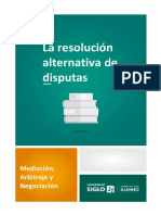 La Resolución Alternativa de Disputas
