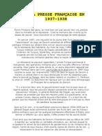 DANS LA PRESSE FRANÇAISE EN 1937