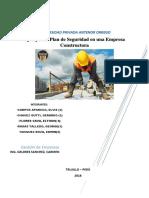 Ejemplo de Plan de Seguridad en Una Empresa Constructora