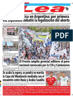 Periódico Lea Jueves 14 de Junio Del 2018