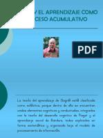 Ppt Gagné y El Aprendizaje Como Proceso Acumulativo