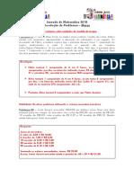 Problemas - Jornada de Matemática_2018 - Março - Gabarito
