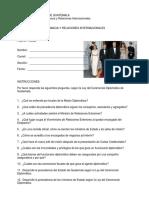 Hoja de Trabajo - Diplomacia - Ley Del Ceremonial Diplomàtico 2018