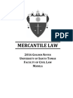 UST Mercantile Law Reviewer 2016