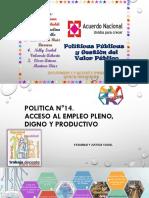 Acuerdo Nacional- Políticas 14 al 20