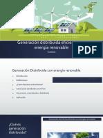 Generación Distribuida Eficiente Con Energía Renovable