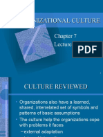 Chapter 7 Lecture 4 Organizational Culture