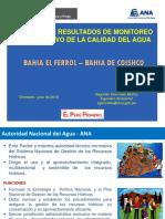 RESULTADOS DEL MONITOREO DE LA CALIDAD DEL AGUA DE LA BAHÍA EL FERROL DE CHIMBOTE