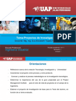 Diapositivas Proyectos de Investigacion III Unidad I Ok
