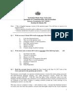 MJMC Entrance Exam 2017 QP English Section 2