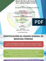 Identificación de Líquido Seminal en Medicina Forense