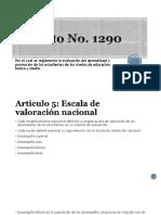 Decreto No 1290