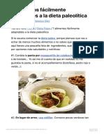 7 alimentos fácilmente adaptables a la dieta paleolítica