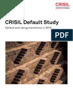 CRISIL Default Study 2016