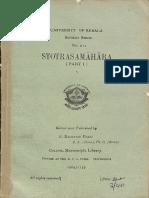Stotras Samahara Part 1 - K. Raghavan Pillai
