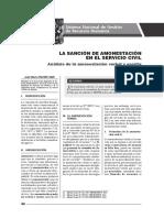 La Sanción de Amonestación en El Servicio Civil - Autor José María Pacori Cari