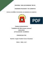 Caratula Conserva de Piña Monografia