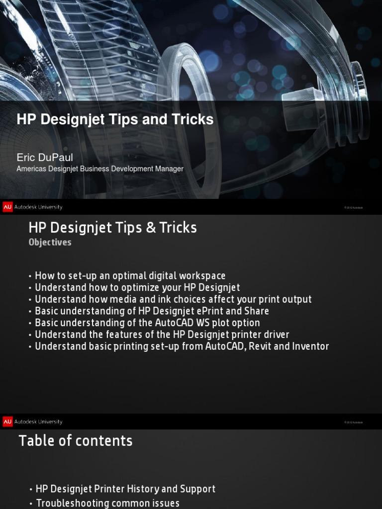 Presentation_6148_au Designjet Tips and Tricks v1 | Auto Cad