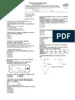 Evaluación de física de 10 grado