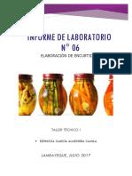 Informe N 06 Elaboración de Encurtidos