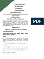 Ucsp - Civil III - Acto Juridico - Pizarra - Mayo 2018