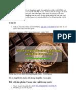 Tư Vấn Công Bố Tiêu Chuẩn Chất Lượng Sản Phẩm Cacao - FOSI