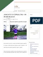 JOACA-TE CU COPILUL TAU – 99 de Idei de Jocuri - Psihologul Te Asculta
