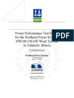 Northern Power Nw 100 Performance Report