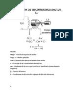 Función de Transferencia (Motor Ac y Opamp)
