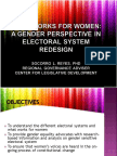 Gender Perspective in Electoral System Redesign