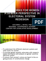 Gender Perspective in Electoral System Redesign