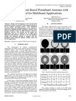 Design of Fractal Based Pentaband Antenna With CPW Feed for Multiband Applications