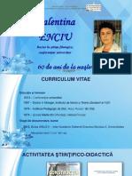 Valentina Enciu :doctor în ştiinţe filologice, conferenţiar universitar