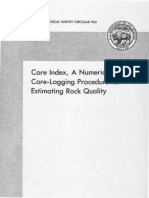 Core Index, A Numerical Core-logging Procedure for Rock Quality Estimation