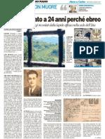 Gaddo, ebreo fucilato dai tedeschi, catturato a Urbino