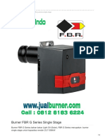 Jual Burner FBR G Series Single Stage