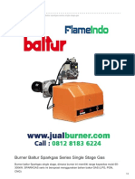 Jual Burner Baltur Sparkgas Series Single Stage Gas