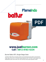 Jual Burner Baltur BTL Single Stage Solar