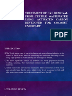 Treatment of Dye Removal From Textile Wastewater Using