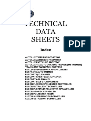 Luxor Technical Data Sheet   Paint   Personal Protective